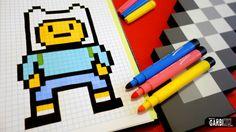 Handmade Pixel Art - How To Draw Finn the Human #pixelart