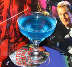 MST3K Cocktails: Space Mutiny  3 parts vodka 1 part white tequila 1 part blue curacao 1/2 part Rose's lime Shake with ice, strain into margarita glass
