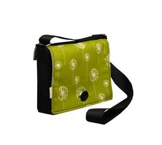 Green Messenger Purse  Interchangeable Flap by R2SD on Etsy, $38.00