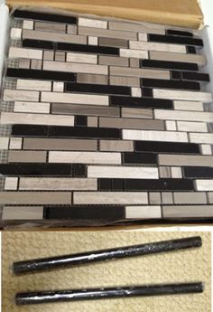 Mosaic Tile Love This Pattern Used As Backsplash With Black Pencil Trim Was From Http Www Flooranddecoroutlets S31100652 Html