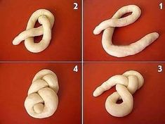 Résultat d'images pour lussekatter shapes Decoration Patisserie, Food Decoration, No Carb Bread, Bread Recipes, Cooking Recipes, Bread Shaping, Bread Art, Braided Bread, Dessert Aux Fruits