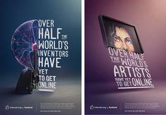 Arte digital y publicidad: Internet.org por Facebook