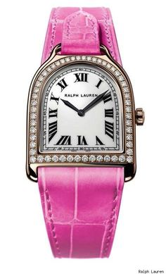 Ralph Lauren Small Stirrup Pink Pony Limited Edition Watch