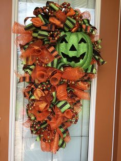 Your place to buy and sell all things handmade Halloween Deco Mesh, Halloween Party Supplies, Halloween Door Decorations, Halloween Birthday, Holidays Halloween, Halloween Themes, Halloween Pumpkins, Halloween Crafts, Halloween Wreaths