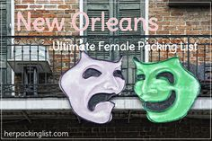 Ultimate Female Travel Packing List for New Orleans, Louisiana, HerPackingList.c… - Travel Tips Her Packing List, Packing List For Travel, Packing Checklist, New Orleans Vacation, New Orleans Travel, Travel Divas, Strong Drinks, Girls Vacation, Camping Activities