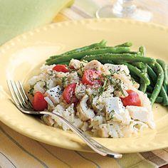 Oven Chicken Risotto | MyRecipes.com