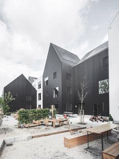 Small house-like volumes make up this Copenhagen kindergarten