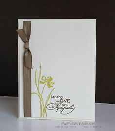Would stamp the flower in a different color, but I love this clean & simple layout for a sympathy card.