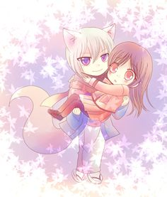 Chibi Tomoe and Nanami. Such cutie pies. Kamisama  Kiss / Hajimememashita