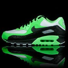 2013 mens nike air max 90 premium poison green black