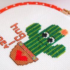 Hug me Cross Stitch-Cactus Hoop Art- Wall Art-Ready to Hang-Needlepoint Art-Cute Cross Stitch-Kids Room Decor-Gardener Gift-Valentine Gift Cross Stitching, Cross Stitch Embroidery, Cross Stitch Patterns, Cross Stitch For Kids, Cute Cross Stitch, Cactus Cross Stitch, Cross Stitch Flowers, Hug Me, Houseplants