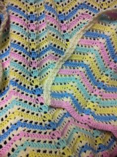 Candy Stripe crochet blanket