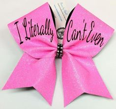 Bows by April - I Literally Can't Even Pink Glitter Cheer Bow, $16.00 (http://www.bowsbyapril.com/i-literally-cant-even-pink-glitter-cheer-bow/)