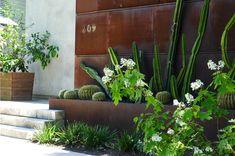 corten steel cacti planters