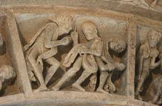 Vézelay Abbey: Central Tympanum Archivolt: Cappadocians