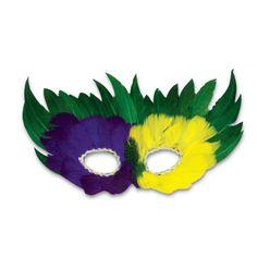 Purple-Green-Yellow-Mardi-Gras-Madness-Feather-Eye-Mask-1044-Masquerade-Party