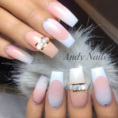✨ REPOST - - • - - Beautiful Ombre Nails with Crystals  - - • - -  Picture and Nail Design by @andy_nails  Follow them for more gorgeous nail art designs!  @andy_nails @andy_nails - - • - - #ombrenails #frenchfade #frenchnails #swarovskinails #longnails #nailswag #nailstagram #perfect #nailsofinstagram #naildesigns #nailsonfleek #beautifulnails #nailcandy #nailsoftheweek #beautynails #perfectnails #stylish #nailsdesign #style #nailartlove