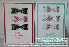 """Bow Builder punch, Occasions Catalogue 2015 Handcrafted by Virginia """"Wirg""""  Hampson Stamp Out Your Art With Virginia! © 2015 Stampin'Up! Demo # 4008839 Online store: http://stampoutyourartwithvirginia.stampinup.net/ Blog: http://www.stampinup.net/esuite/home/stampoutyourartwithvirginia/blog"""