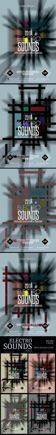 Electro Sounds Futuristic Flyer 2
