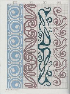 Just Cross Stitch Patterns (Can use this in knitting too) Just Cross Stitch, Cross Stitch Bookmarks, Cross Stitch Borders, Cross Stitch Alphabet, Cross Stitch Charts, Cross Stitch Designs, Cross Stitching, Cross Stitch Embroidery, Embroidery Patterns
