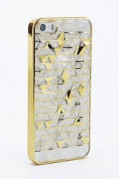 Coque iPhone 5 dorée motif prismes #UrbanOutfitters #Price:€17