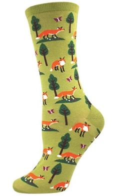 Socksmith Women's Socks Foxes Crew Fern 1pair Best Price
