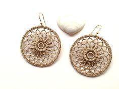 Orecchini Uncinetto Dorati / Gold Crochet Earrings : Orecchini di mademoiselle-federica