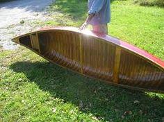 Image result for vintage wood 12' canoes