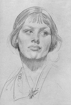 George W. Lambert ~ Beatrice, 1913 (pencil)