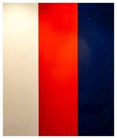Liberty Battson, Fine Artist White, Red, Blue  50 x 180 cm 2K Automotive Paint on Canvas 2013 https://www.facebook.com/libertybattson/