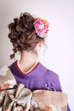 undefined Japanese Beauty Hacks, Up Styles, Short Hair Styles, Hair Arrange, Japanese Hairstyle, Party Fashion, Hair Designs, Kimono, Hair Beauty