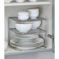 The Container Store > Double Chrome Corner Shelf