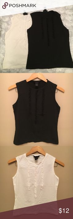 2 Limited tops! Worn few times. In great condition. Both are size small. Black and Beige colors. The Limited Tops Tank Tops