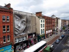 by Guido Van Helten - New mural for the Draw Out Street Art Festival on the streets of Limerick City, Ireland - 16.07.2014