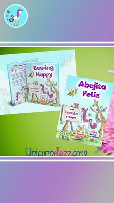 Happiness book for Kids in Children's Unicorn Book Bee-ing Happy with Unicorn Jazz Popular Kids Books, Free Kids Books, Best Children Books, Childrens Books, Unicorn Books, Unicorn Art, Spanish Books For Kids, Preschool Education, Children's Picture Books