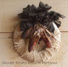Fall Harvest Corn Thanksgiving Prim Rag by shweetpotatodolls, $15.00