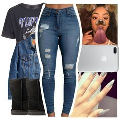 A fashion look from December 2016 featuring Topshop t-shirts and UGG ankle booties. Browse and shop related looks.