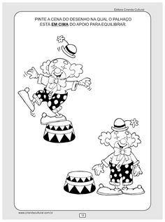 atividade de matematica em cima e embaixo Snoopy, Teaching, Education, Fictional Characters, Carpe Diem, Clowns, Erika, 30, Peanuts Comics