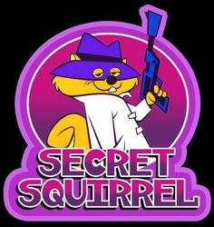 60's Cartoon Classic Hanna-Barbera Secret Squirrel custom tee