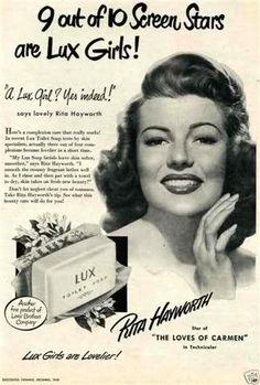 Sabonetes LUX - Rita Hayworth