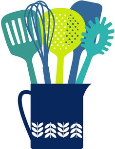Utensils Jug Cool Colours - Marie Perkins Prints - Easyart.com