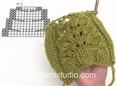 DROPS Knitting Tutorial: How to work chart A.3 for the hat in DROPS 171-56