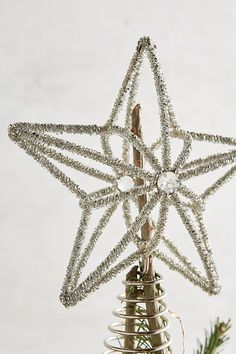 Beaded Tinsel Star Tree Topper