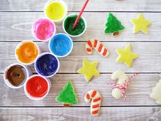 Melted marshmallow cookie paint! Let the kids frost the cookies next year!