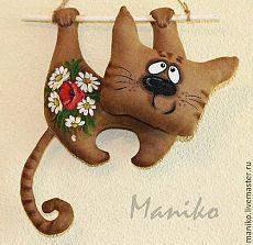 Koupit Ivory Interiér textil - hnědý, kočkou, kočka, kočky, textilní hračky, kuchyň