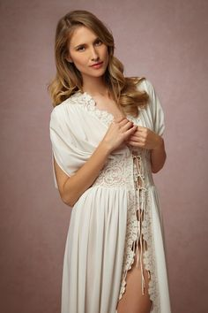 Lila Lace Robe in Bride Bridal Lingerie at BHLDN