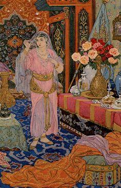 1001 Nights Tarot - Queen of Cups