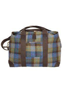 Large Holdall in Harris Tweed 1502 #HarrisTweed #GlenalmondTweed #Travelbag