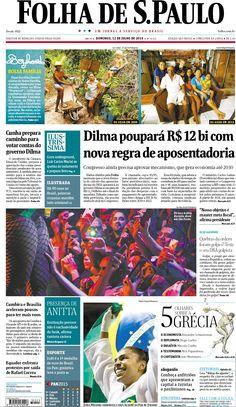 Jornais brasileiros do dia 12 de julho de 2015