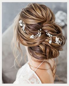 Vintage Hairstyles Updo Five Favorite Bridal Hairstyles From Elstile ~ Pretty twisted updo with long tendrils Summer Wedding Hairstyles, Bride Hairstyles, Vintage Hairstyles, Easy Hairstyles, Hairstyle Ideas, Updo Hairstyle, Bridal Hair Half Up, Bridal Updo, Wedding Hair Pins